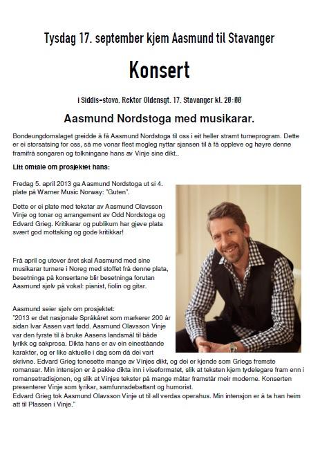 Aasmund Nordstoga - konsertomtale
