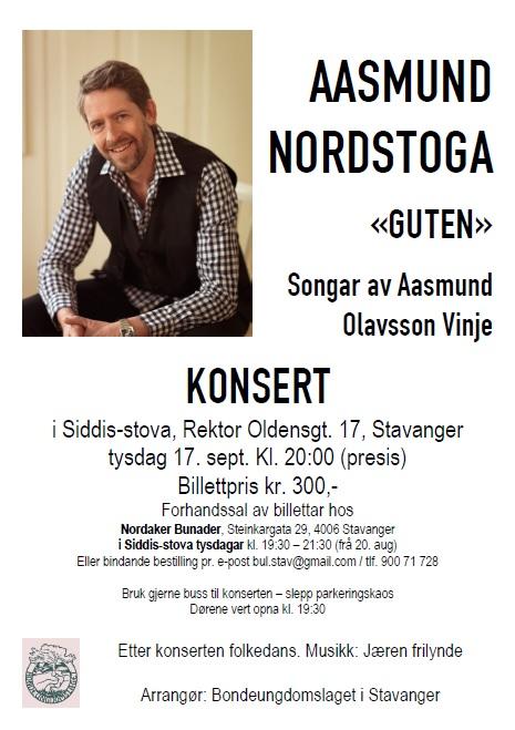 Aasmund Nordstoga - konsertplakat